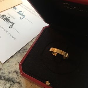 Cartier Love Ring!